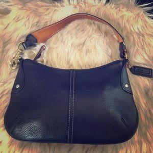 Small coach black leather purse
